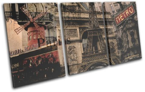 Paris Vintage Collage City - 13-6015(00B)-TR21-LO